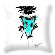 Turquoise In The City Throw Pillow