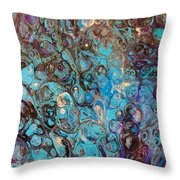 Turquoise Intrigue Throw Pillow