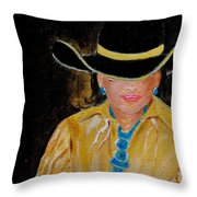 Turquoise Lady 3 Throw Pillow