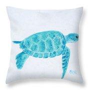 Turquoise Marine Turtle Throw Pillow