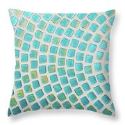 turquoise meets green P2 Throw Pillow