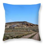 Turquoise Mine Off Hwy 142 2 Throw Pillow