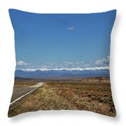 Turquoise Mine Off Hwy 142 Throw Pillow