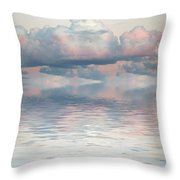 Turquoise Moon Rise Throw Pillow