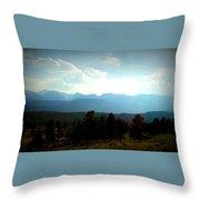 Turquoise Mountain X Throw Pillow