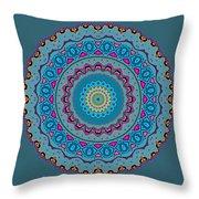 Turquoise Necklace Mandala Throw Pillow