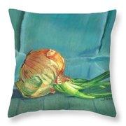 Turquoise Onion Throw Pillow