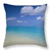 Turquoise Shoreline Throw Pillow