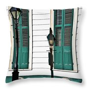 Turquoise Shutters Throw Pillow