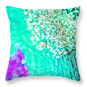 Turquoise Spell Throw Pillow