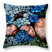Turquoise Stone Throw Pillow