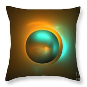 Turquoise Sun Throw Pillow
