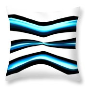 Turquoise Teal Abstract Lines Throw Pillow