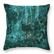 Turquoise Texture Throw Pillow