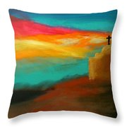 Turquoise Trail Sunset Throw Pillow