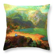 Turquoise Tranquility Meditation Throw Pillow