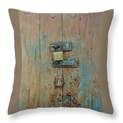 Turquoise Turning Pink Throw Pillow