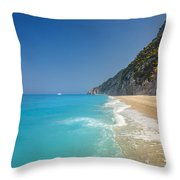 Turquoise Water Paradise Beach Throw Pillow
