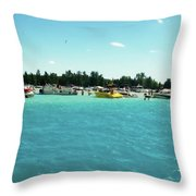 Turquoise Waters At The Torch Lake Sandbar Throw Pillow