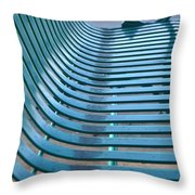 Turquoise Wave Throw Pillow