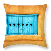 Turquoise Window Shutter Throw Pillow