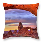 Turret Arch 1 Throw Pillow