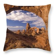 Turret Arch And North Window Throw Pillow