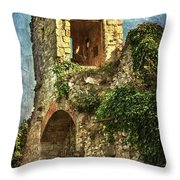 Turret At Wallingford Castle Throw Pillow