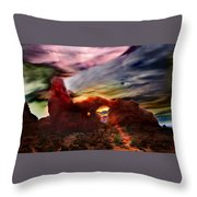 Turret Storm Throw Pillow