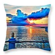 Turtle Cloud Throw Pillow