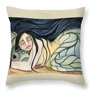 Turtle Daughter  Throw Pillow