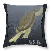 Turtle Dives Too Deep Throw Pillow
