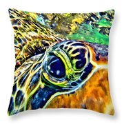 Turtle Eye Throw Pillow
