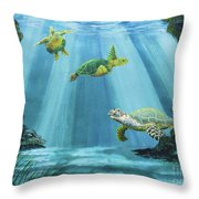 Turtle Reef Throw Pillow