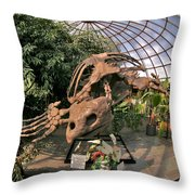Turtle Skeleton Throw Pillow