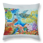 Turtle Territory Throw Pillow