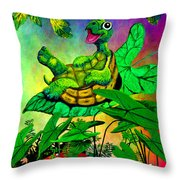 Turtle-totter Throw Pillow