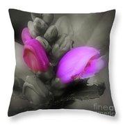 Turtlehead Flower Throw Pillow