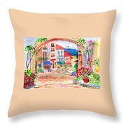 Tuscan Archway II Throw Pillow