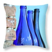 Tuscan Blue Reflections Throw Pillow