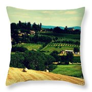 Tuscan Country Throw Pillow