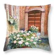 Tuscan Courtyard Throw Pillow