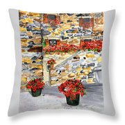 Tuscan Courtyard I Throw Pillow