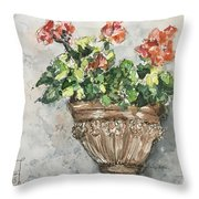 Tuscan Floral Throw Pillow