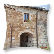 Tuscan Old Stone Building Throw Pillow