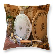 Tuscan Pottery Throw Pillow