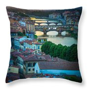 Tuscan Sunbeams Throw Pillow by Inge Johnsson