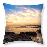 Tuscan Sunset On The Sea In Italy Throw Pillow