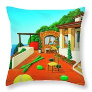 Tuscan Vacation Throw Pillow
