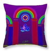 Tuscan Violet Throw Pillow